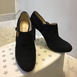 High heels platform suede leather